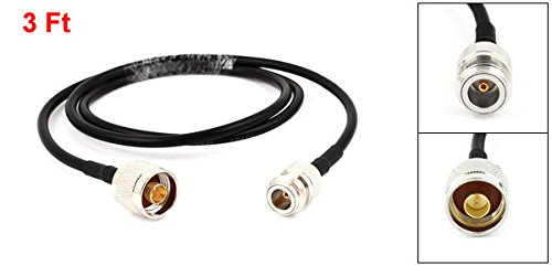 uxcell N Type Female to Male Test Antenna Coaxial RG-58//U Cable Connector 1M 3Ft Long