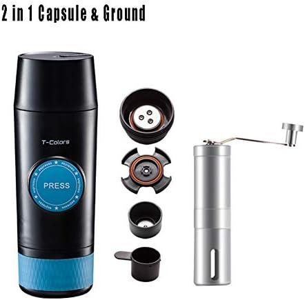 Cafetera De Viaje, Máquina De Café Espresso Portátil Eléctrica Para Cápsula Compatible Con Nespresso, Presión De 18 ...