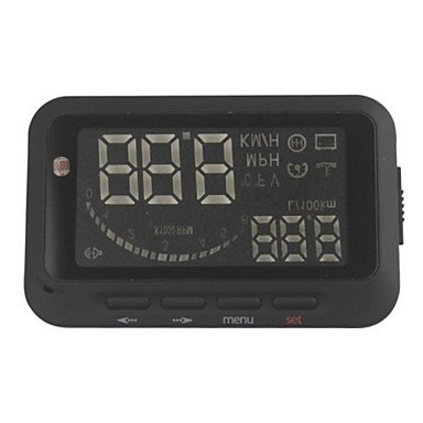 Car Head Up Display Vehicle-Mounted HUD Overspeed Warning OBD2 System F02
