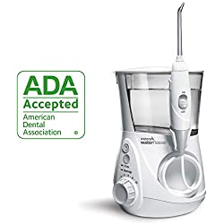 Waterpik Water Flosser Electric Dental Countertop Oral Irrigator For Teeth, Aquarius Professional, WP-660 White, Compatible With 120VAC/60Hz Outlets, For Use In North America Only