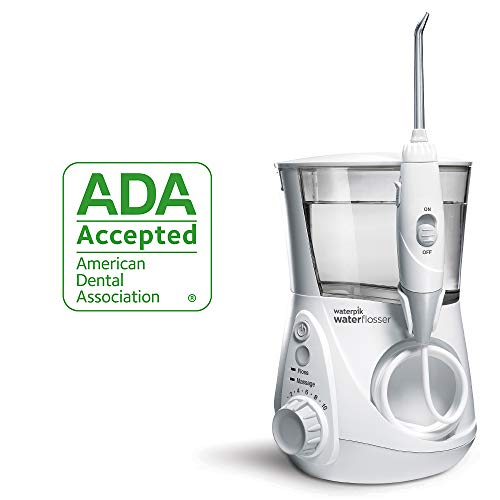 Waterpik Water Flosser Electric Dental Countertop Oral Irrigator for Teeth - Aquarius Professional, WP-660/660C, White