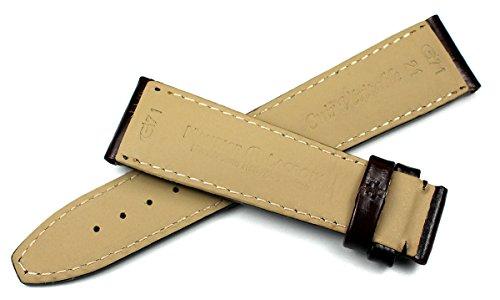 Maurice Lacroix herr läder klockarmband 21 mm brun stål logo