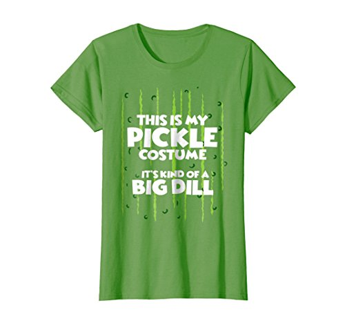 Womens Pickle Halloween Costume Shirt Easy Funny Women