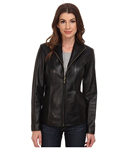 assic Leather Jacket, Black, Small ()