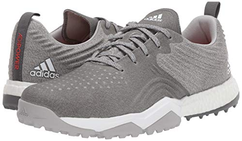 adidas Men's Adipower 4ORGED S Golf Shoe, Grey Two/Grey Four/raw Amber, 11 W US