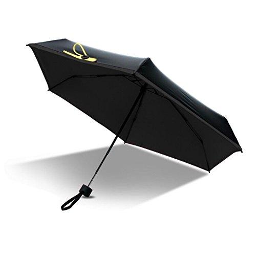 FLM Super Mini Paraguas - Doble-Uso Paraguas Del Sol/Lluvia Paraguas Plegable Compacto y Resistente al Viento Tejido de Teflón 210T Ultraligero y ...