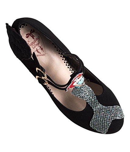 Black Banned Stella 50s Mermaid Retro Starlight Apparel Shoes Pumps by PaqxgT