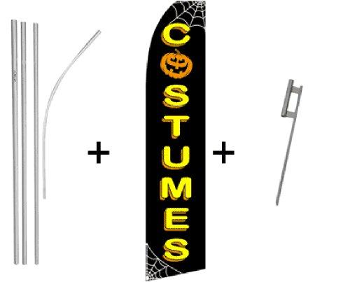 Halloween Costumes Quantity 2 Super Flag & Pole -