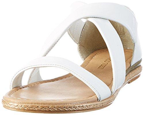 Marco Tozzi 2-2-28154-38 100, Sandalias Planas Mujer Blanco (White 100)