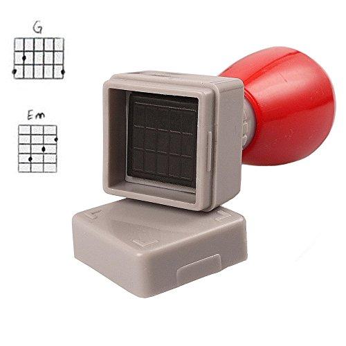 Mr.Power Guitar Chord Stamp Black Ink(3 Frets)/Ukulele(5 fret) DIY Mini Rubber Stamp(Black Ink)