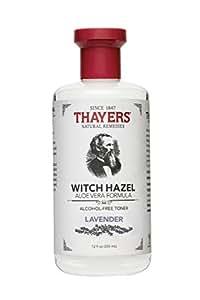 Thayers Alcohol-Free Witch Hazel with Organic Aloe Vera Formula Toner, Lavender 12 oz