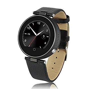 Flylinktech® S365 Montre Connectée Bluetooth Podomètre Smart Watch Sport Ronde Smartwatch avec Anti-perte