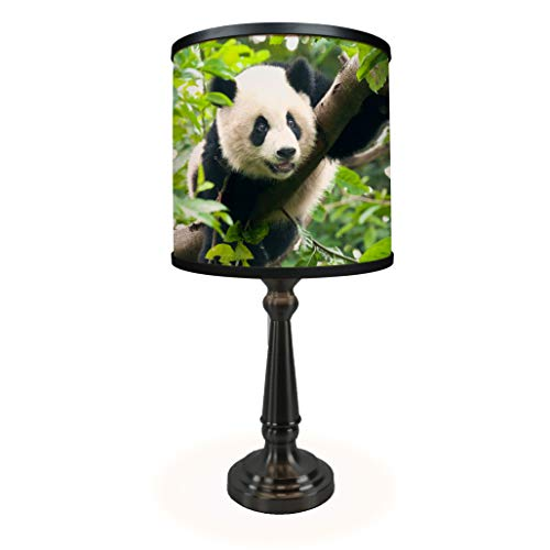 Corinthian Table Base - Giant Panda Table Lamp with Corinthian Base - Full Color Art Print on Shade