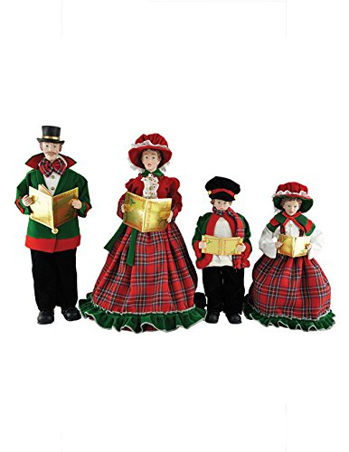 (Santa's Workshop 3150 Christmas Day Carolers Figurine, Set of 4, 15
