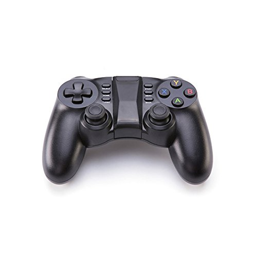 PowMax Bluetooth Game Controller, PC Gamepad Joystick With Vibration Feedback for Android Phone/ IOS/ PC/ PlayStation 3(Black)