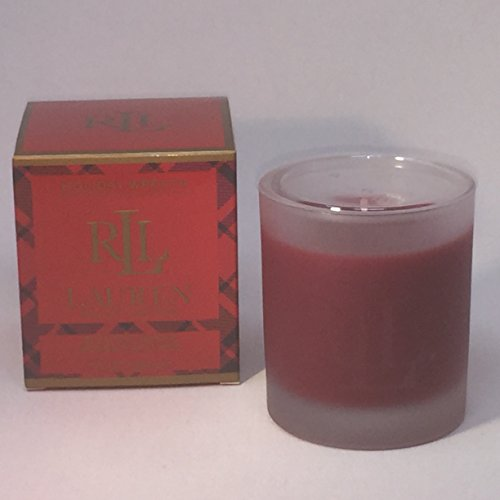 Lauren Ralph Lauren Red Holiday Wreath Scented 7.2 oz Candle - Logo Monogrammed on Glass (Home Ralph Decor)