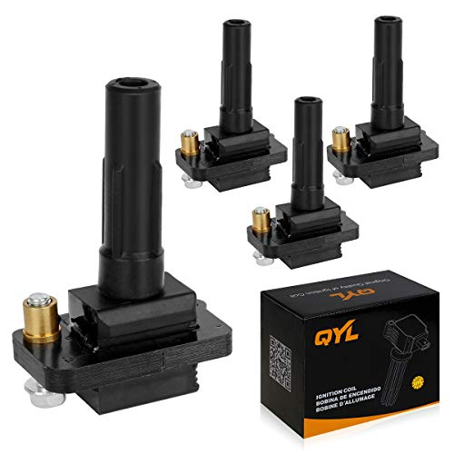 QYL Set of 4 Ignition Coil Pack Replacement for Subaru Impreza WRX, WRX Wagon 22433AA421-2002, 2003, 2004, 2005 Models
