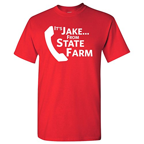 It's Jake - Funny TV Commercial Meme Humor T-Shirt - 2X-Large - Red -