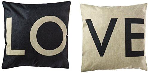 HOSL P28 Cotton Linen Cushion Cover Throw Pillow Case Set of