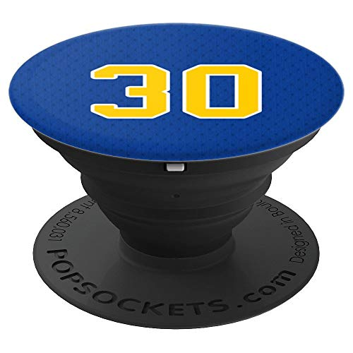 Basketball Legend #30 Blue and Yellow - PopSockets Grip and Stand for Phones and Tablets