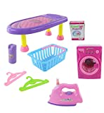 Battery Operated Iron, Ironing board and Washer/Dryer. The Washer/Dryer and the Iron comes with lights, Music and featured realistic Sounds!