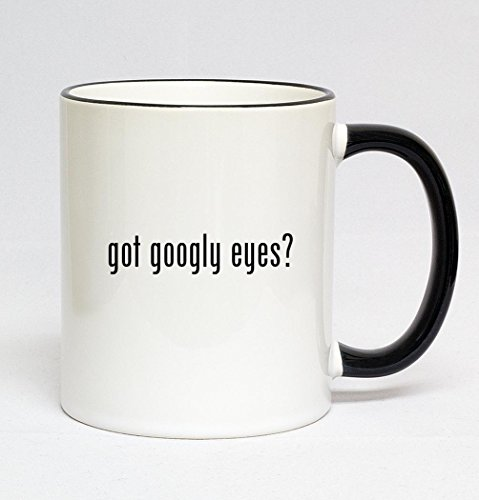 11oz Black Handle Coffee Mug - got googly eyes?
