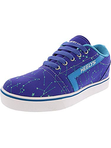 Heelys Girls' GR8 Pro Prints Tennis Shoe, Blue IRIS/Cyan/Constellations, 8 M US Big Kid