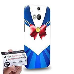 Case88 [HTC One M8] 3D impresa Carcasa/Funda dura para & Tarjeta de garantía - Sailor (Series Moon) Moon Art9038