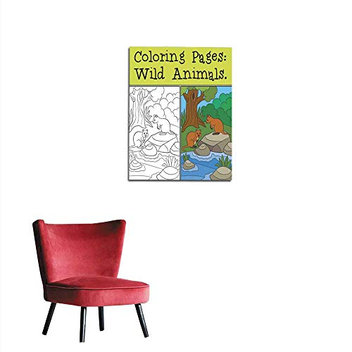 (Home Decor Wall Coloring Pages Wild Animals Two quokkas in The Forest Mural)