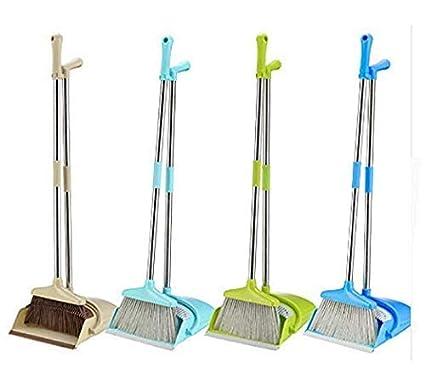 Nirvik Cleaning Broom and Dustpan Sets Windproof (Beige)
