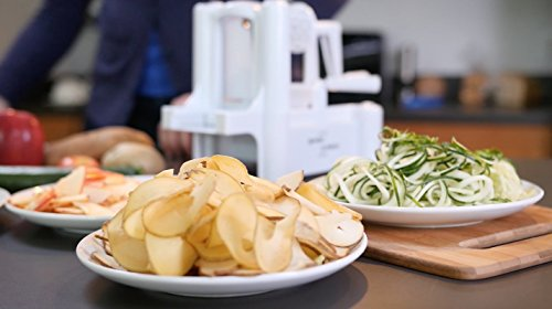 Veggiespize B10 5 Blade Spiral Slicer 8 Works on various vegetables & fruits Make veggie noodles 5-Blade Spiralizer.