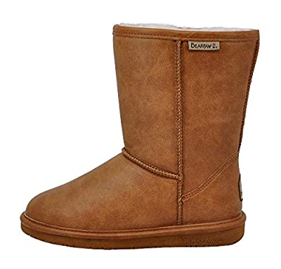 BEARPAW Women's Emma Short Winter Boot, Tan Smooth, 9 B(M) US