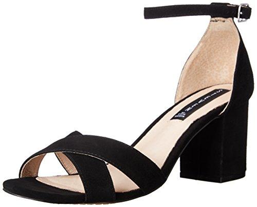 STEVEN by Steve Madden Women's Voomme Dress Sandal, Black Suede, 9.5 M US