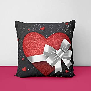 41%2BZmUAVARL. SS320 Gift Heart Square Design Printed Cushion Cover