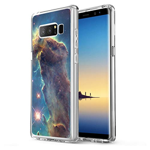 Owa UV Printing Case for Samsung Galaxy Note 8, Shock-Absorption Bumper Cover, Anti-Scratch Clear Back, HD Clear - Outer Space