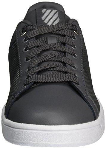 K-swiss Hommes Propre Court Mode Sneaker Charbon De Bois / Argent / Blanc