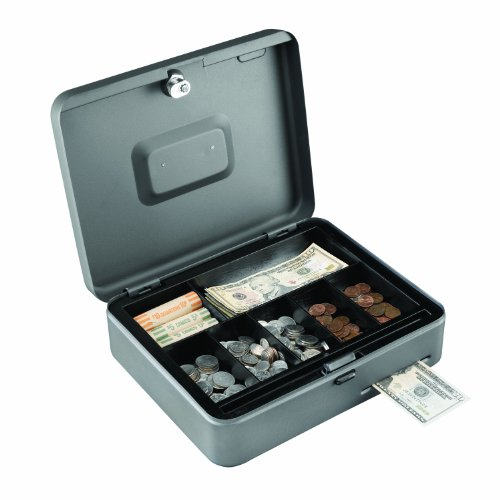 STEELMASTER Cash Slot Security Box, Gray, 2216119G2 by STEELMASTER