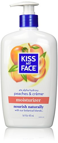 - Kiss My Face Natural Body Moisturizer - Peaches & Creme - 16 oz
