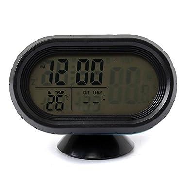 Coche Voltaje Monitor Batería Alarma Reloj Digital LCD temperatura thermeter: Amazon.es: Electrónica