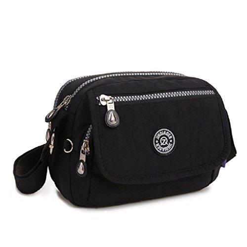 body Black for Girls Bag Bag Resistant Nylon TianHengYi Mini Lightweight Travel Shoulder Water Cross Messenger 6qT7aI