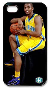 LZHCASE Personalized Protective Case for iPhone 4/4S - Chris Paul, NBA New Orleans Hornets