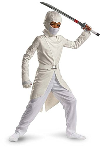 [Storm Shadow Deluxe - Size: Child M(7-8)] (White Ninja Costumes For Kids)