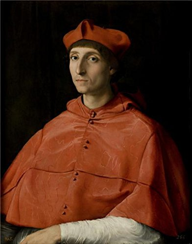 The High Quality Polyster Canvas Of Oil Painting 'Portrait Of A Cardinal By Raphael' ,size: 30x38 Inch / 76x97 Cm ,this Beautiful Art Decorative Canvas Prints Is Fit For Basement (Saucepan Man Costume Ideas)