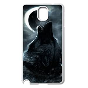 T-TGL(RQ) Samsung Galaxy Note 3 N9000 Cell Phone Case Wolf and Moon with Hard Shell Protection