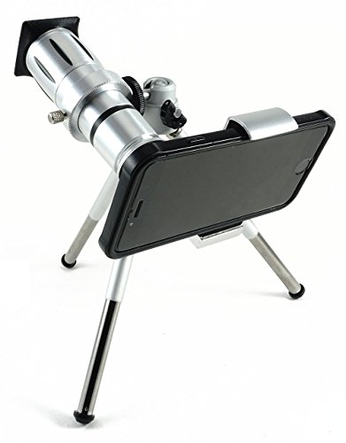 NEW Top Eclipse Solar Viewing Kit - 12x Zoom Telephoto / Telescope + Tripod & Universal Smartphone Holder + Solar Filter Lens