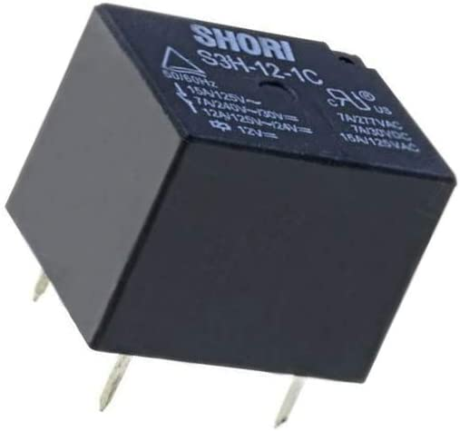 S3H-12-1C Relay electromagnetic SPDT Ucoil12VDC 10A//277VAC 7A//30VDC