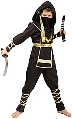 SEA HARE Disfraz de Guerrero Samurai Negro de Ninja Power ...