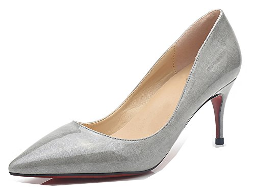 Bout Femme Aisun Gris Printemps Kitten heel Pointu Escarpins Mode qzrWq1g7