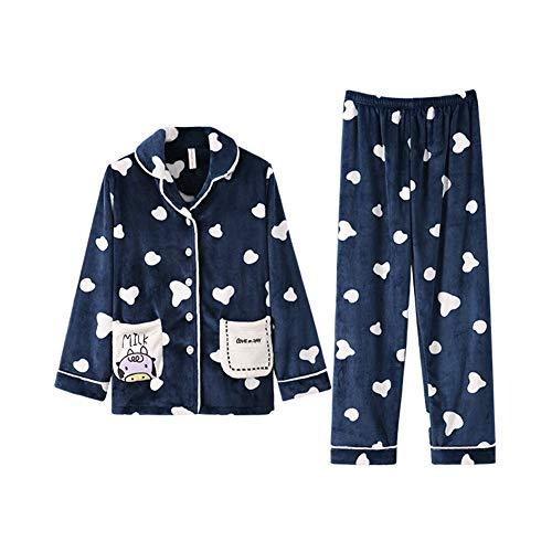 Animados Invierno De Ropa Traje Terciopelo Pijamas Engrosamiento S Dibujos Otoño Coral Casa Llrcazr Lindo BH0CqwR