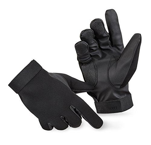 BlackSnake® Neopren Handschuhe mit Kevlar Schnittschutz Schwarz L
